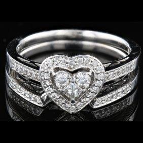 14k White Gold, 0.52ct Diamond Ring