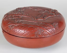 Covered Round Lacquer Box