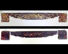 Early Qing Dynasty Wedding Bed Foot Board