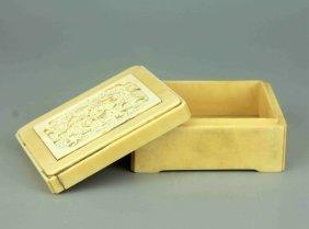 Vintage Ivory Carved Box
