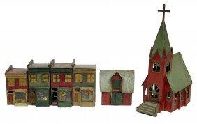 (6) CHRISTMAS GARDEN HOUSES