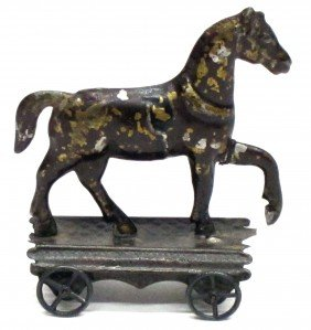 EARLY AMERICAN TIN HORSE TOY