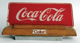 1950's Coca-Cola Cash Register Sign