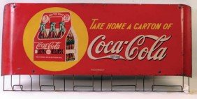 1939 Coca-Cola  Tin Bag Holder With 6 Pack