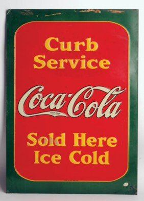 1933 Coca-Cola Tin Sign