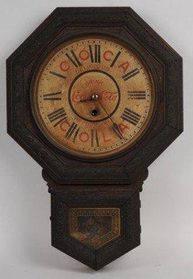 COCA-COLA 1901 WELCH OCTAGONAL CLOCK