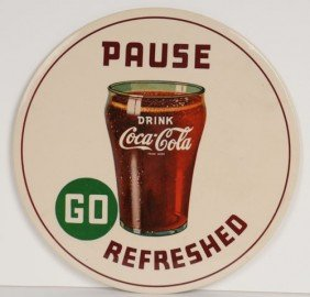 1942 COCA-COLA CELLULOID SIGN