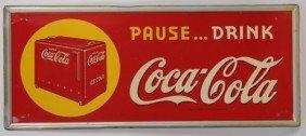 RARE AND SCARCE 1940 COCA-COLA TIN SIGN
