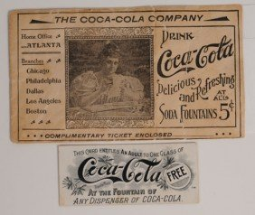 COCA-COLA EARLY COUPON ENVELOPE & COUPON