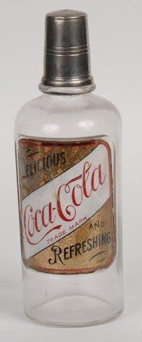 EARLY COCA-COLA LABEL UNDER GLASS BACK-BAR BOTTLE