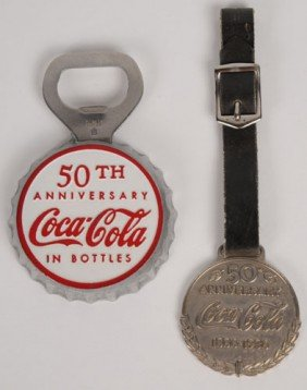 50TH ANNIVERSARY WATCH FOB AND BOTTLE OPENER