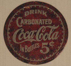 1902 To 1904 RARE COCA-COLA CARDBOARD SIGN