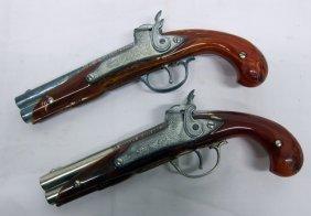 Pair Hubley Flintlock Dueling Pistols