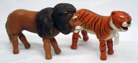 Schoenhut Tiger & Lion