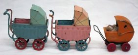 Miniature Doll Carriages (3)