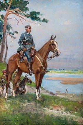 Marshal Pilsudski On Horseback