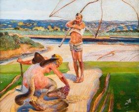 Ondine Ð Fisherman And Chimera, Ca.1920