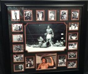 Muhammad Ali Signed Photo W/ Collage Of Vip Photos