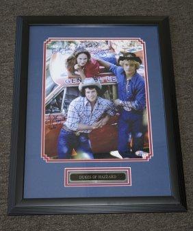 Dukes Of Hazzard Photo Signed By Cast Framed