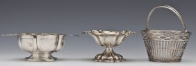 3 Small English & Dutch Sterling Serving Pieces