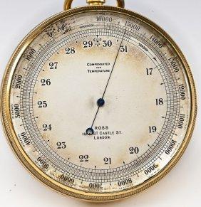 English Victorian Aneroid Pocket Barometer