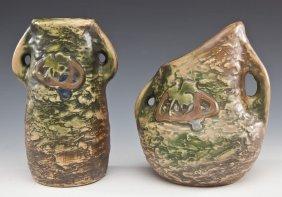 2 Roseville Imperial Vases