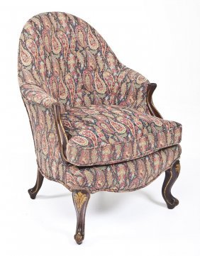 French Style Slipper Arm Chair