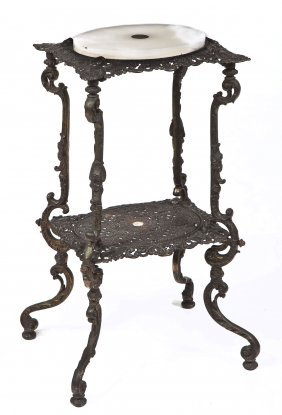 Iron Victorian Revival Parlor Stand
