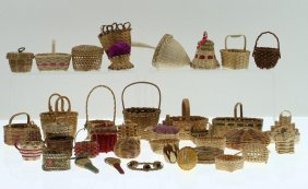 Collection Of Eastern Basketry Miniatures