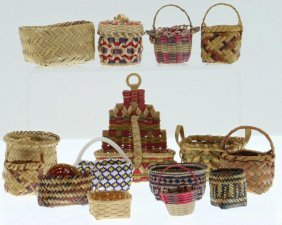 Collection Of Great Lakes And Southeast Basketry