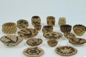Collection Of Pima Miniature Baskets