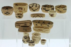 Collection Of Pima And Papago Miniature Baskets