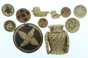 Collection Of Papago Basketry Miniatures