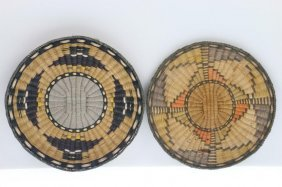 Two Hopi Wicker Plaques