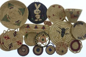 Collection Of Eskimo Basketry Items