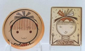 Two Hopi Pottery Items