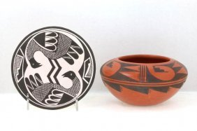 Two Pueblo Pottery Items