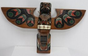 Northwest Coast Wood Totem Pole