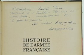 Weygand. Histoire De L'armee Francaise. Signed. 1938.