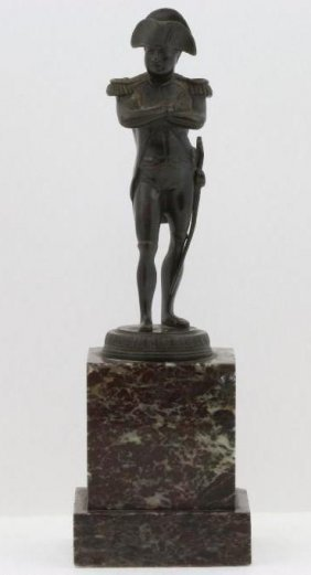 A French Patinated Bronze Figure Of Napoleon