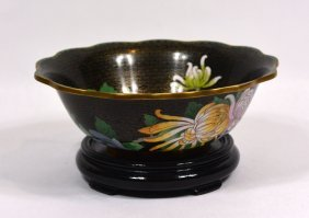 Chinese Enamel Cloisonne Bowl
