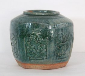 Chinese Green Glaze Procelain Jar