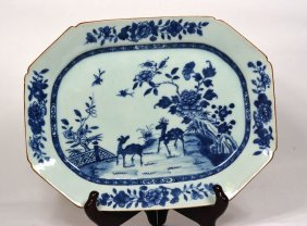 18th Century Blue & White Qianlong Export Charger