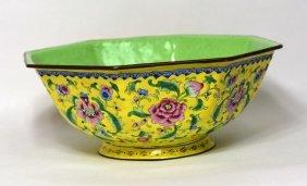 Chinese Enamel Over Bronze Bowl
