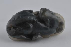Jade Carving. China. 18th Century. Black And White