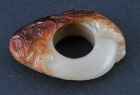 Jade Archers Ring. China. 18th Century. White Stone