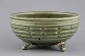 Celadon Censer.  China. Ming Period (1368-1644). Lung