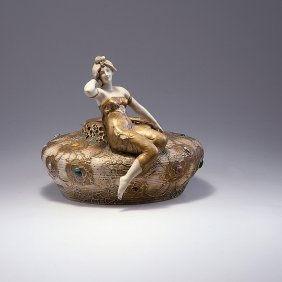 Bowl With Woman's Figure, C1900