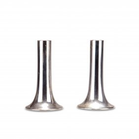 Pair Of Candlesticks, C1960