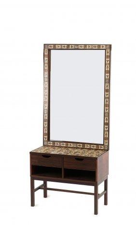 Hall Mirror With Dresser, C1960